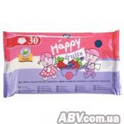 Влажные салфетки Bella Baby Happy Fruits с ароматом клубники и черники 30 шт (5900516420864)