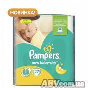Подгузник Pampers New Baby-Dry Newborn (2-5 кг), 27шт (4015400264453)