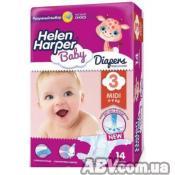 Подгузник Helen Harper Baby Midi 4-9 кг 14 шт (2310569)