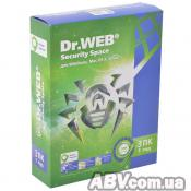 Программная продукция Dr. Web Security Space 10, 3 ПК 1 год (BHW-B-12M-3-A3)