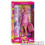 Кукла ToysLab Я люблю обувь. Ася блондинка в блестящем платье, 28 см (35025)
