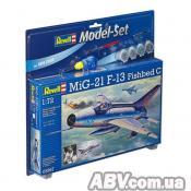 Сборная модель Revell Многоцелевой истребитель MiG-21 F-13 Fishbed C 1:72 (63967)
