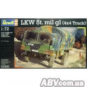 Сборная модель Revell Автомобиль LKW 5t. mil gl 1:72 (3300)