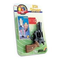 Купить Edison - Спорт. револьвер - KIT STONE (8-зарядный,10 пуль, 3 мишени)