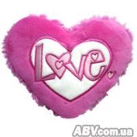 Купить Grand - Подвесное сердечко - ЛЮБОВЬ (12 см, розово-белое)