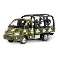 Купить Технопарк - Автомодель - ГАЗЕЛЬ ВОЕННАЯ (с солдатами)