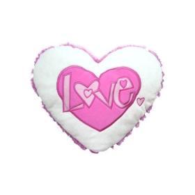Grand - Подвесное сердечко - ЛЮБОВЬ (12 см, бело-розовое)
