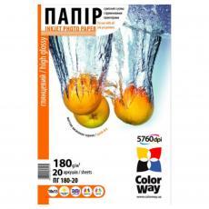 Бумага ColorWay 10x15 (ПГ180-20) (PG1800204R)
