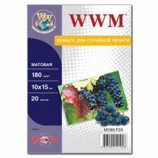 Бумага WWM 10x15 (M180.F20)