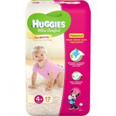 Подгузник Huggies Ultra Comfort для девочек 4+ (10-16кг) 17 шт (5029053543741)