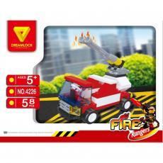 Конструктор DREAMLOCK Пожарные спасатели Пожарная машина (4226)