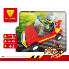 Конструктор DREAMLOCK Пожарные спасатели Спасательная машина (4121)