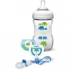 Набор для кормления новорожденных Philips AVENT Слоники для мальчиков (SCD627/01)