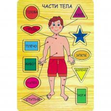 Развивающая игрушка Мир деревянных игрушек Части тела (Р 39)