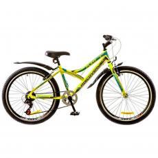 "Велосипед Discovery 24"" FLINT 14G Vbr 14"" St зелено-серо-голубой 2017 (OPS-DIS-24-061)"