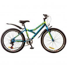 """Велосипед Discovery 24"""" FLINT 14G Vbr 14"""" St сине-черно-зеленый 2017 (OPS-DIS-24-060)"""