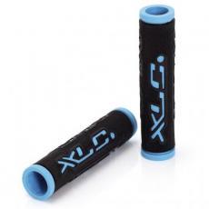 Грипсы XLC GR-G07 'Dual Colour', черно-голубые, 125мм (2501583500)